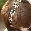5 hojas de accesorios para el cabello de moda banda de metal de hoja de oro de la venda del pelo