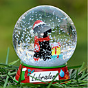 Precioso Negro Labrador decorativo Bola de cristal del ornamento regalo de Navidad para los amantes de mascotas