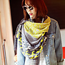 Bell All-matched Contrast Color Scarf AWJ10 Yellow,Khaki(180CMX90CM)