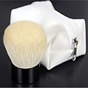 Alta Calidad Natural Cabra Blanca para maquillaje colorete / Powder Kabuki Brush with Bag Blanco Zip