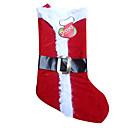 Estilo clásico terciopelo rojo Navidad calcetines