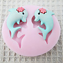 a-pair-dolphin-silicone-mold-fondant-molds-sugar-craft-tools-chocolate-mould-for-cakes