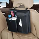 Negro Moderno caja de pañuelos para el coche