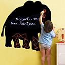 Pizarra etiqueta de la pared, desprendible, Negro Elefante
