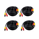 4 PCS 30 metros (o 99 pies) BNC de video y energía 12V integrado Cable DC