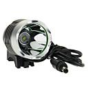 3-Mode del Cree XM-L T6 LED luz de la bicicleta / de luz (1000LM, 4x18650, Gris)