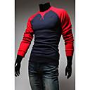 Cuello Raglan Ronda Manwear Hombre de manga larga T-Shirt (Dark Blue)