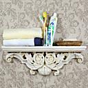 Antique Ivory Europea Hanging Storage Shelf