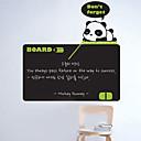 Pizarra etiqueta de la pared, desprendible, Panda Maestro para Niños