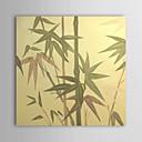 Mano óleo pintada pintura floral Hojas de bambú con el marco de estirado-1312 FL0032