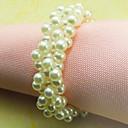 Boda de la perla Anillo de servilleta Conjunto De 12, Pearl Dia 4.5cm