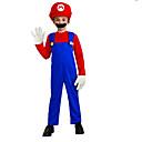Disfraz para Niños de Poliéster de Super Mario Rojo con Barba