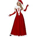 5 Piezas de Santa traje de la reina de la Navidad roja del terciopelo