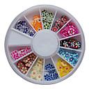 120PCS mezcló patrón de colores de flores Fimo Slice Animal Decoración de uñas de arte