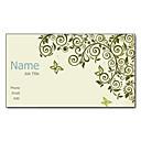200pcs personalizado 2 Sides Impreso Mate Film mariposa y patrón de flores Tarjeta de visita