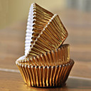 Gold Aluminum Foil Cupcake Wrappers - Set of 100