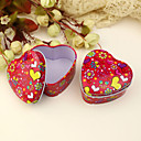 "Butterflies Love Flowers"" Heart Shaped Favor Tin - Set of 12"