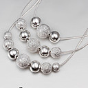 Beads Silver Necklace Miss U de la Mujer