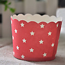 Paper Star Pattern Cupcake Wrappers - Set of 50