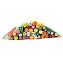 20pcs lindo Frutas 3D Nail Art Fimo Cañas Cañas Decoración