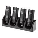 4 en 1 estación de carga  4 packs de baterías para Nintendo Wii