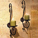 "11.75 ""H Country Style colgar de la pared Holder Hierro Aplique Candle"