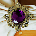 Luxury Diamond Napkin Ring Set Of 12, Crystal Dia 4.5cm