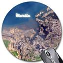 Patrón de Regalos Tierra personalizada Gaming Optical Ronda Mouse Pad (18x18cm)