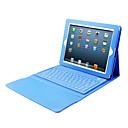 Caja de la PU del cuero del teclado de Bluetooth para el iPad 2/3/4
