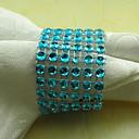 Rectangular Acrylic Beads Napkin Ring, Dia4.2-4.5cm Set of 12