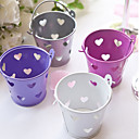 Heart Hollow-out Metal Favor Pail - Set of 6 (More Colors)