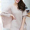Folli Corea del lentejuelas decoración asimétrica del dobladillo de manga larga camisa de punto