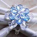 Crystal Peony Napkin Ring, Set of 12, Acrylic Beads Dia3.5cm
