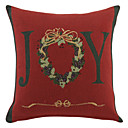 "16 ""Squard Holiday Red Jcaquard poliéster almohada cubierta decorativa"
