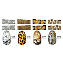Nail Stickers 1x10PCS Animal Leopard Skin Sery completa-Cover (Modelos surtidos)