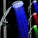 7 colores de luz LED Redondeado Top pulverización Showerheads cabezal de ducha Cuarto de baño con Chrome recubierto