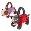 Animal Diseño Soft Plush Toys Zipper Bag (color al azar)