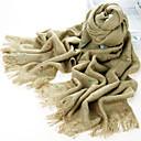 Cielo estrellado de fibra acrílica Camel caliente del invierno de la bufanda con las borlas
