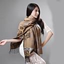 Lana de la borla Mujeres Qingyu que hacen girar la bufanda Camel