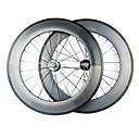 88mm 700c tubular llena del carbón del wheelset carril bici / de la bicicleta