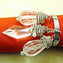 Graceful Wedding Napkin Ring, Acrylic Dia 4.5cm Set Of 12