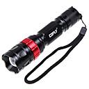 1000lm 5-el modo de luz blanca de la linterna - Negro  Rojo