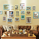 Carving Photo Wall Frame Collection - Set of 18