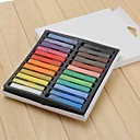 24 colores Piezas DIY del color del pelo temporal Soft Pastels Chalk