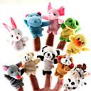 10 marionetas del dedo Piezas Animal Peluches Set