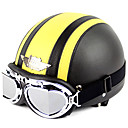 Image For Moto demi casque 998-1n6 haute qualité avec des lunettes