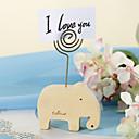 Elephant Wood Placecard Holder