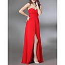 Gaine / colonne sans bretelles sweetheart étage longueur robe en mousseline de soie militaire avec drap latéral par ts couture