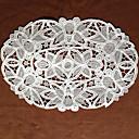 Conjunto de 6 cutworking bordado oval Placemat, Encaje 28X42cm