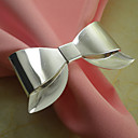 Bowknot Wedding Napkin Ring Set of 6, Metal Dia 4.5cm
